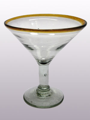 Sale Items / 'Amber Rim' martini glasses  / This wonderful set of martini glasses will bring a classic, mexican touch to your parties.