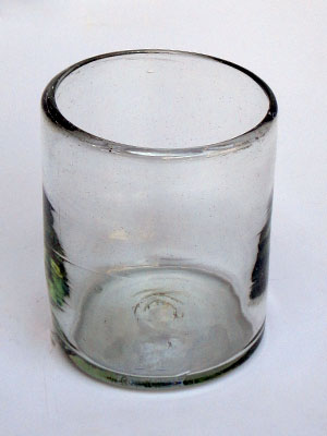 MEXICAN GLASSWARE / Clear blown glass tumblers