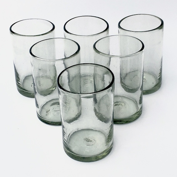 MEXICAN GLASSWARE / Clear drinking glasses