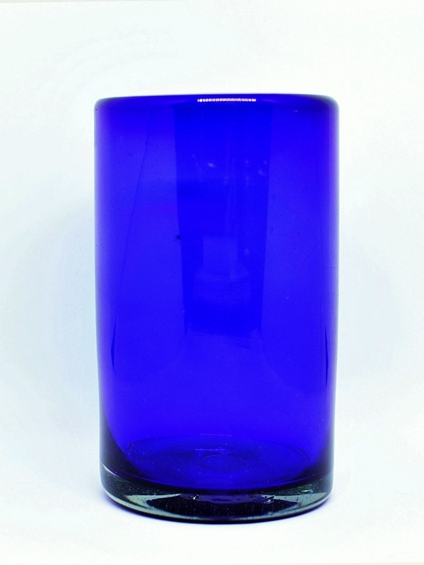 New Items / Solid Cobalt Blue drinking glasses  / These handcrafted glasses deliver a classic touch to your favorite drink.