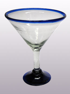 Sale Items / 'Cobalt Blue Rim' martini glasses  / This wonderful set of martini glasses will bring a classic, mexican touch to your parties.