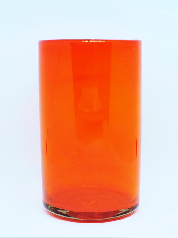 New Items / Solid Orange drinking glasses  / These handcrafted glasses deliver a classic touch to your favorite drink.